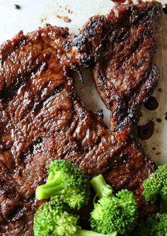 Mongolian Glazed Steak with Broccoli