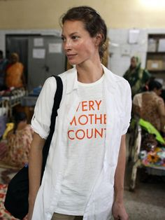 The powerhouse behind Every Mother Counts, Christy Turlington Burns