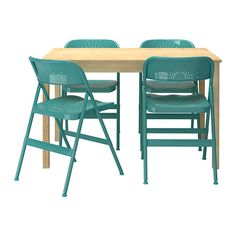 INGO / FRODE Table and 4 chairs IKEA Solid pine; a natural material that ages beautifully.