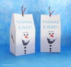 Olaf Frozen traktatie printable