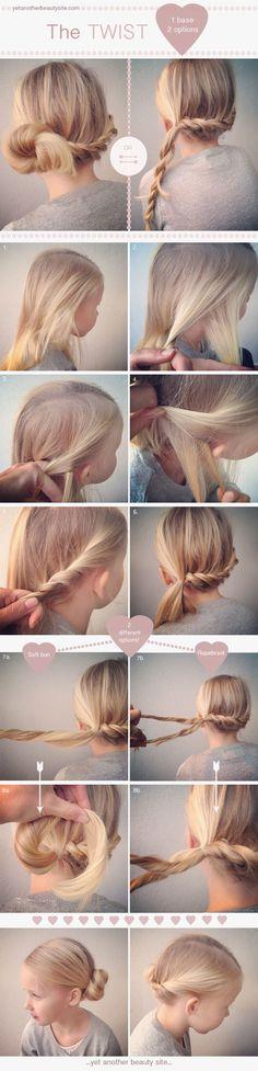画像:ねじって結ぶだけ!まとめなくても十分可愛いツイストヘアー! - Weboo