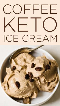 Keto Coffee Ice Cream Recipe Did you know Bullet Proof Coffee uses Steviva products? Sub in Steviva Monk Keto Coffee Ice Cream Recipe Did you know Bullet Proof Coffee uses Steviva products? Sub in Steviva MonkSweet and you have a really healthy treat! Keto Cookies, Low Carb Desserts, Low Carb Recipes, Dessert Recipes, Dinner Recipes, Healthy Recipes, Healthy Foods, Baking Recipes, Healthy Eating