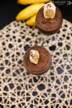 Eggless Chocolate Banana Mousse Recipe