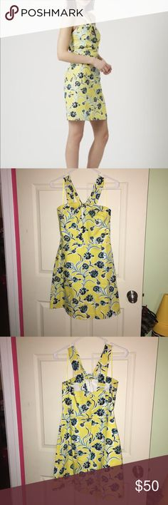 Topshop dress NWT! Adorable Topshop yellow floral halter sheath dress! Size 8! NWT smoke free home! This dress is adorable and would be perfect for an Easter or Mothers Day dress!! Topshop Dresses