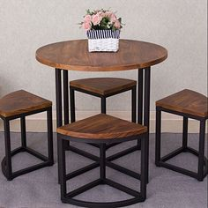 American wood furniture combination to do the old wrought iron circular dining table custom casual cafe tables and chairs Easy Welded Furniture, Cafe Furniture, Iron Furniture, Restaurant Furniture, Steel Furniture, Furniture Design, Furniture Plans, Restaurant Patio, System Furniture