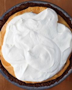 Icebox Pumpkin-Mousse Pie, Martha Stewart
