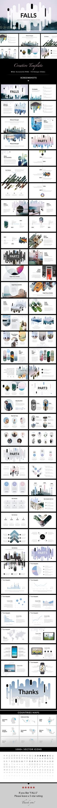 Falls  Creative PowerPoint Template — Powerpoint PPT #clean • Download ➝ https://graphicriver.net/item/falls-creative-powerpoint-template/20285370?ref=pxcr