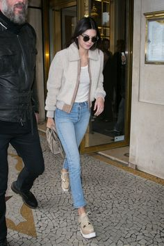 Pin for Later: Kendall Jenner Ditched Her Signature Style For Something Unexpected  Kendall hit the streets of Paris in a cool Fall ensemble.