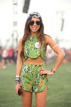 Sonia Dushey rocks Coachella's version of camouflage.