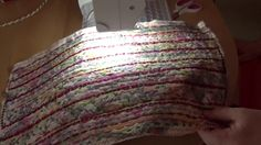 Creating New Surfaces Using Fabric Scraps by Wanda Art. As purse, cards,...