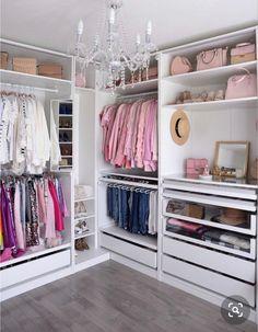 Helpful Closet Organization Tips Featuring The IKEA Pax Wardrobe Wardrobe organization Walk In Closet Design, Bedroom Closet Design, Master Bedroom Closet, Closet Designs, Small Walk In Closet Ideas, Closet Rooms, Teen Closet, Glam Closet, Classy Closets