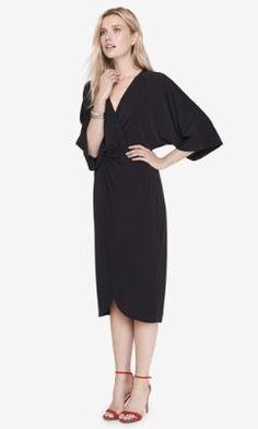 black kimono midi dress from EXPRESS