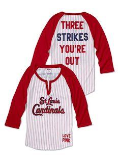 St. Louis Cardinals Henley Baseball Tee - Victoria's Secret