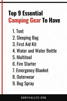 If done the right way, camping can be a truly enjoyable and breathtaking ride. Make sure you get the full experience by equipping yourself with all the essential camping gear listed below. #campinggear #camping #survivalgear #survival #preparedness #survivallife Survival Life, Survival Gear, Camping Lunches, Outdoor Survival, Gears, Essentials, Kit, How To Plan, Gear Train