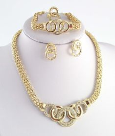 """""""Elegant Series"""" 18k Gold Plated African Costume Jewelry"""