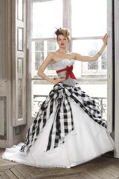Eli Shay Wedding Dress Collections 2012 - Capucine Vichy - Gingham Corset said a red taffeta ribbon : Eli Shay Wedding Dress Collections 2012 – Capucine Vichy – Gingham Corset said a red taffeta ribbon Flannel Wedding, Gingham Wedding, Formal Dresses For Women, Special Dresses, Yes To The Dress, Dress Up, Bridal Gowns, Wedding Gowns, Red And White Weddings