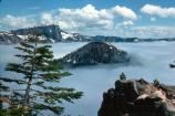 Crater Lake & Wizard Island in Winter