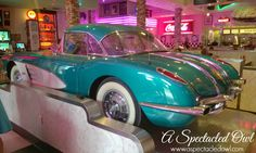 The Corvette Diner is a 50's diner, located in Liberty Station in San Diego, CA. It's a 13,300 sq. ft. facility with a 5,000 sq. ft. arcade