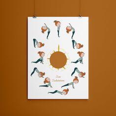 Custom Printable Sun Salutation Asana Poster, Yoga Art Print Instant Download, Best Friend Portrait Illustration, Inspiring poster, Yogi by OficinaBeeShanti on Etsy Some Text, Yoga Art, Inspirational Posters, Portrait Illustration, All Design, Etsy Store, Favorite Color, Yogi, Handmade Items
