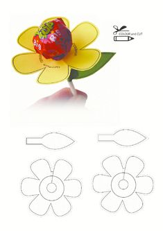 (one word on each petal) Use pattern to cut flower and leaf. Attach sucker to flower and leaf to flower. (Add Reunion Group Name, city & State to the leaf) printables for kids This Pin was discovered by Haz Kids Crafts, Easter Crafts, Diy And Crafts, Valentines Bricolage, Valentine Crafts, Anniversaire Candy Land, Marianne Design, School Gifts, Flower Patterns