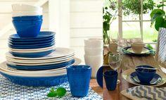La nueva colección de Ikea para el verano que ofrece distintas piezas y accesorios para darle a tu hogar ese toque veraniego que tanto apetece cuando llega el buen tiempo también cuenta con nuevas piezas para tu mesa. En concreto SOMMAR 2016 te va conquistar con esta vajilla de estilo minimal en dos colores, en blanco y en azul, y que también cuenta con vasos cerámicos. Incluye fuentes, platos grandes, platos de postre y cuencos. vajillas ikea SOMMAR 2016 cocina