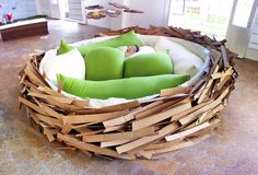 "A different kind of bed: the ""Giant Birdsnest"" by O*GE Architects. (i want this so bad)"