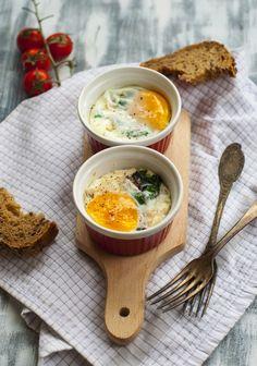 Baked eggs for breakfast!