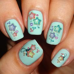 Wendy's Delights: Star Water Decals from Nail Art UK @realnailartuk