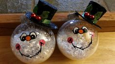@Stacy Stone LW and @Azi Cabigao Dublin - Ladies, we can do this with our see through balls!  Snowman ornaments
