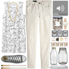 """""""#229 Grey and whiteee..."""" by berina-2000 on Polyvore"""