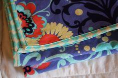 Bound flannel blankets tutorial