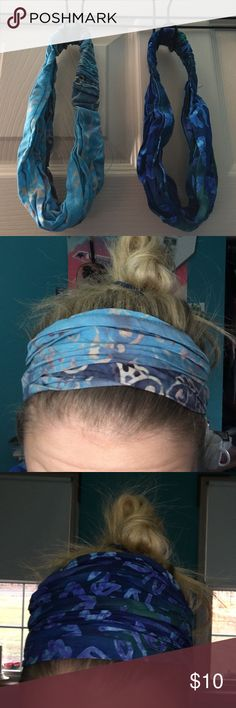 Headband Duo These two headbands are the cutest around! Both come from Ganesh, a small boutique located in Newburyport, Massachusetts!  Both fit wonderfully and have been washed! Ganesh Accessories Hair Accessories