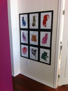 Andy Warhol Cat Collage...definitely want to create.