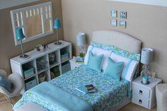 OOAK Bedroom Diorama for Barbie Blythe Momoko 1:6 scale OVER 80 PIECES INCLUDED