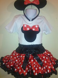Minnie Mouse Halloween costume /birthday Dress red 2pc1T,2T,3T,4T,5T,6T,7T,8T. on Etsy, $37.61 CAD