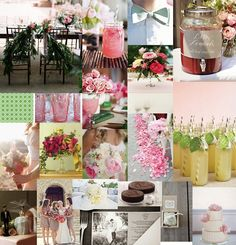 Sweet southern garden wedding inspiration board - pink + green!