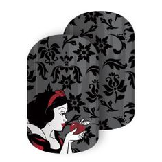 My personal favorite of the Disney's Princess Snow White collection.  Disney Princess Snow White's fair features and crimson-red bow POP as she holds the poisonous red apple in this Snow White-inspired nail wrap.