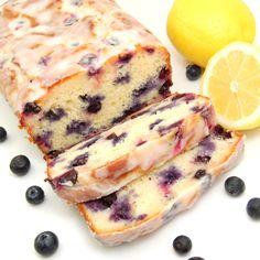 Zingy Lemon-Blueberry Yogurt Loaf made with freshly squeezed lemon juice, lemon zest, yogurt and plump blueberries.