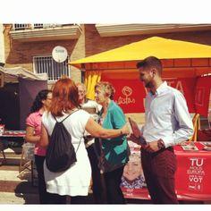 Campanya d'Europees persona a persona en el mercado del #Grau.  http://www.josemanuelprieto.es