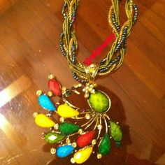 Selling this Green breaded Bohemian necklace with Charm in my Poshmark closet! My username is: rekjewelry. #shopmycloset #poshmark #fashion #shopping #style #forsale #handmade #Jewelry