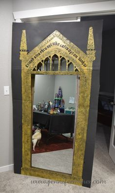 My cardboard Mirror of Erised for our harry Potter Party