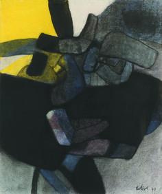 Maurice Estève (1904 – 2001), 1950D, 1973. Charcoal and paste. Galerie Berès will present this artwork during the Parisian Salon du dessin 2015.