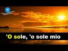 O' Sole Mio Karaoke - YouTube Karaoke Songs, Youtube, Youtubers, Youtube Movies