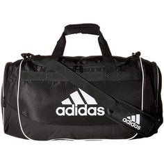 adidas Defense Medium Duffel (Black) Duffel Bags (43 AUD) ❤ liked on Polyvore featuring bags, luggage and black