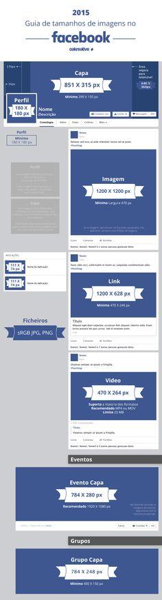 Guia de tamanhos de imagens no Facebook (infográfico)