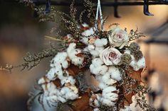 gorgeous cotton bouquet! wreath galor, galleries, bouquet