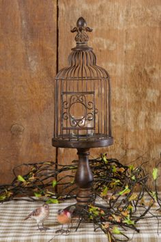 Your Heart's Delight by Audrey's - Candle Holder - Bird Cage Finial