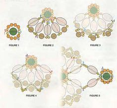 Crochet and arts: beads Beaded Jewelry Designs, Bead Jewellery, Jewelry Patterns, Beading Patterns, Flower Patterns, Beading Techniques, Beading Tutorials, Beaded Bracelets Tutorial, Beaded Cross