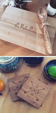 Wood Burning Crafts, Wood Burning Art, Wood Crafts, Custom Cutting Boards, Personalized Cutting Board, Personalized Coasters, Craft Gifts, Diy Gifts, Wedding Coasters