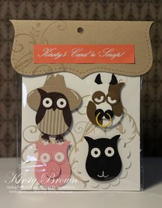 SU Owl punch card candy stampin up